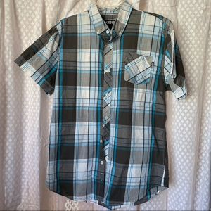 Zoo York Button Down Plaid Button Down Size Large